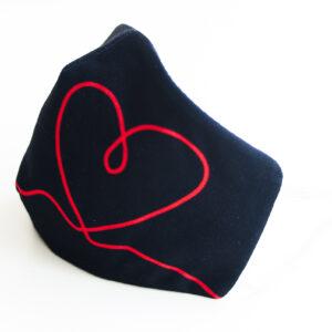 cubre mascarilla negro corazon heart rojo 03