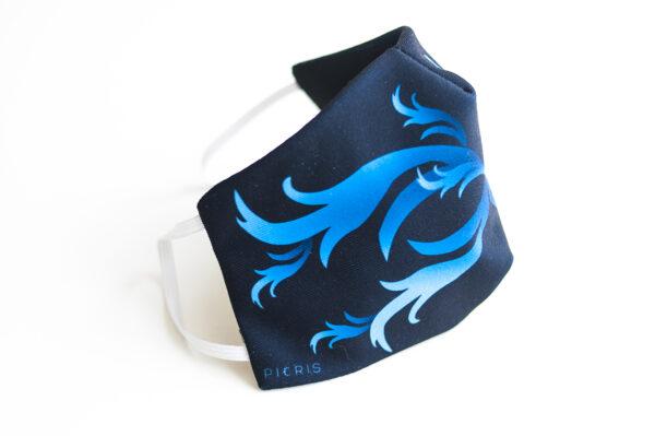 cubre mascarilla negro repujado azul 03