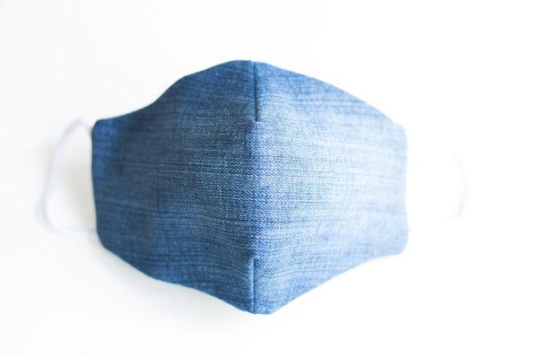 cubre mascarilla tela vaquera azul elastico blanco 00