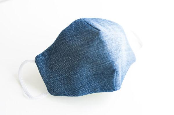 cubre mascarilla tela vaquera azul elastico blanco 01