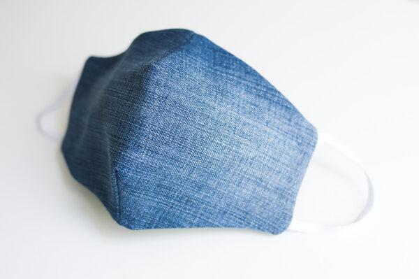 cubre mascarilla tela vaquera azul elastico blanco 02