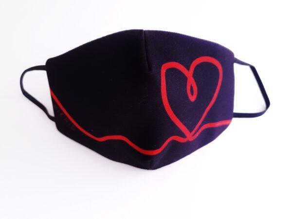 mascarilla picris original negro corazon rojo 00