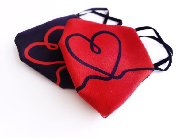 mascarilla picris original negro corazon rojo duo 04