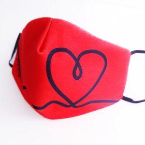 mascarilla picris original rojo corazon negro 01