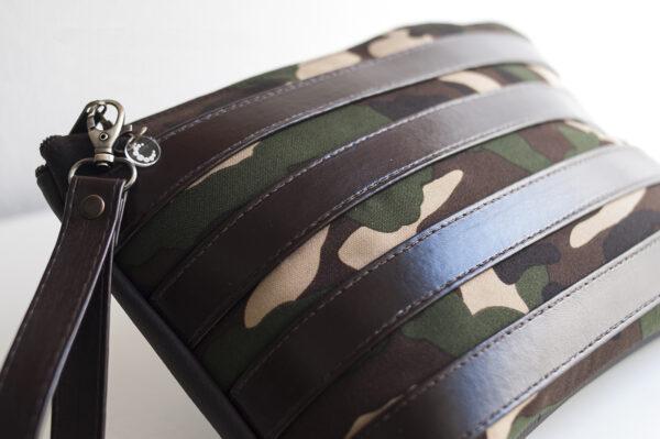 clutch camuflaje marron tiras piel sintetica verde negro asa 04