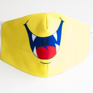 cubremascarilla infantil boca monstruo amarillo 00