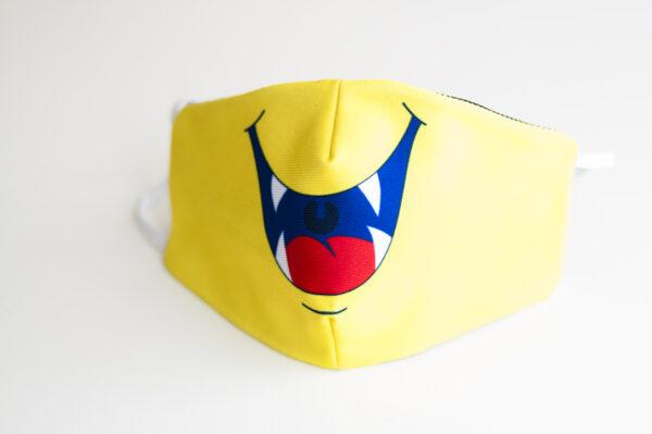 cubremascarilla infantil boca monstruo amarillo 02