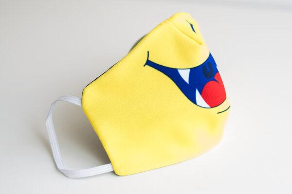 cubremascarilla infantil boca monstruo amarillo 03