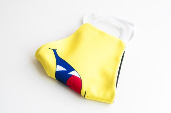cubremascarilla infantil boca monstruo amarillo 04