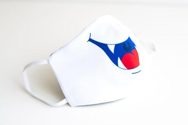 cubremascarilla infantil boca monstruo blanco 02