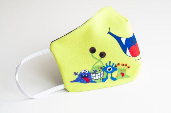 cubremascarilla infantil boca verde monstruos 01