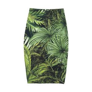 falda picris original floreale palmeras verde negro total 01 1200
