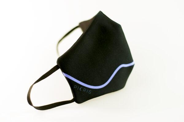 mascarilla corazon azul picrisoriginal base negra elastico filtro tnt 01
