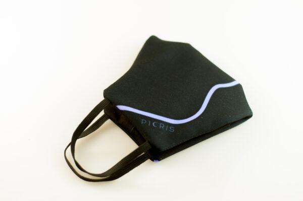 mascarilla corazon azul picrisoriginal base negra elastico filtro tnt 04