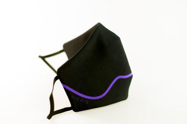 mascarilla corazon morado picrisoriginal base negra elastico filtro tnt 01