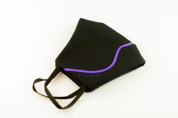 mascarilla corazon morado picrisoriginal base negra elastico filtro tnt 04