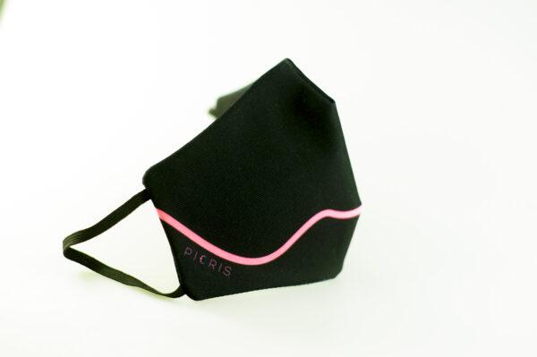 mascarilla corazon rosa fluor picrisoriginal base negra elastico filtro tnt 01