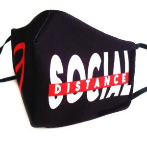 mascarilla higienica picris original social distance negro rojo blanco filtro tnt 0