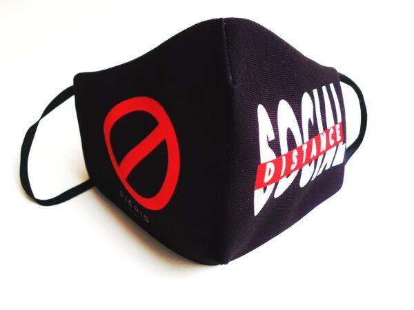 mascarilla higienica picris original social distance negro rojo blanco filtro tnt 01