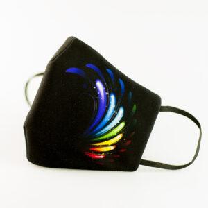 mascarilla picrisoriginal orgullo alas diseno propio elastico negro filtro tnt 00