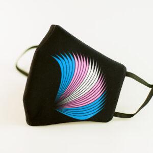 mascarilla picrisoriginal orgullo trans alas diseno propio elastico negro filtro tnt 00
