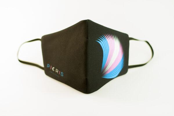 mascarilla picrisoriginal orgullo trans alas diseno propio elastico negro filtro tnt 02