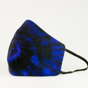 mascarilla picrisoriginal tiedye tie dye azul marino elastico negro filtro tnt 00