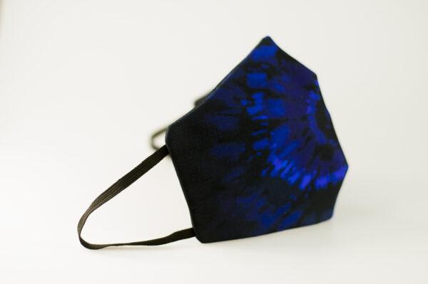mascarilla picrisoriginal tiedye tie dye azul marino elastico negro filtro tnt 01
