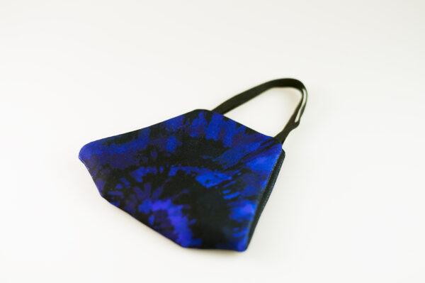 mascarilla picrisoriginal tiedye tie dye azul marino elastico negro filtro tnt 03