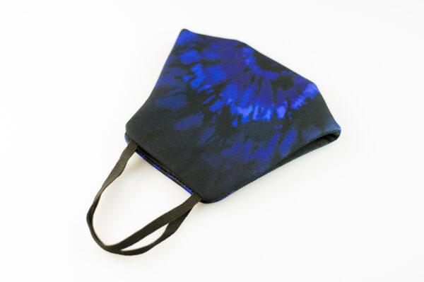 mascarilla picrisoriginal tiedye tie dye azul marino elastico negro filtro tnt 04