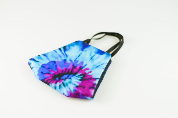 mascarilla picrisoriginal tiedye tie dye azul violeta morado elastico negro filtro tnt 03