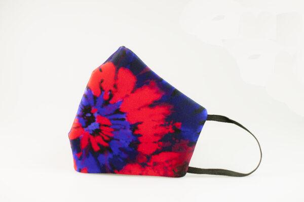 mascarilla picrisoriginal tiedye tie dye rojo azul elastico negro filtro tnt 00