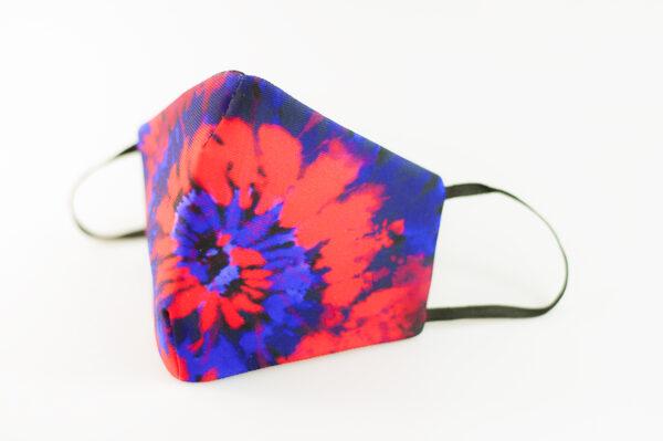mascarilla picrisoriginal tiedye tie dye rojo azul elastico negro filtro tnt 01