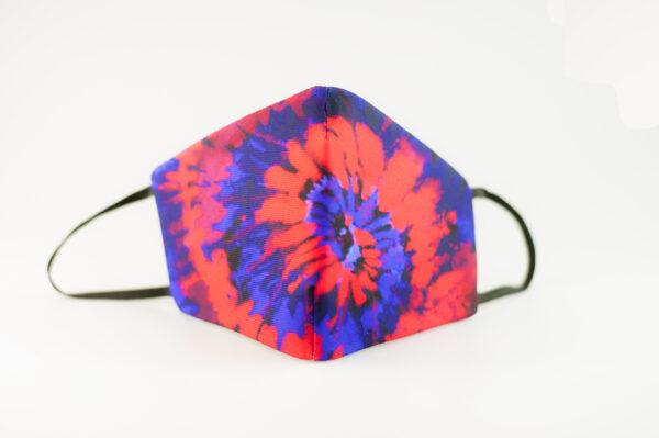 mascarilla picrisoriginal tiedye tie dye rojo azul elastico negro filtro tnt 02