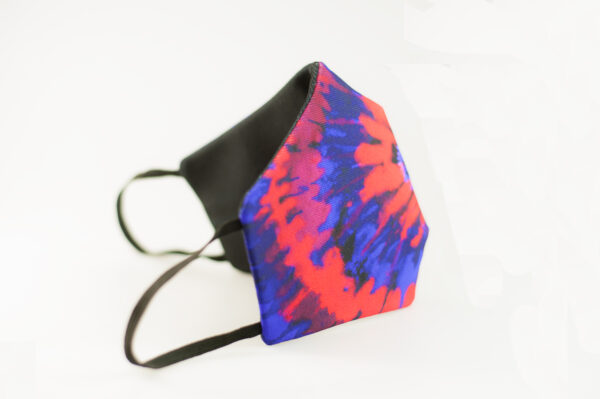 mascarilla picrisoriginal tiedye tie dye rojo azul elastico negro filtro tnt 03