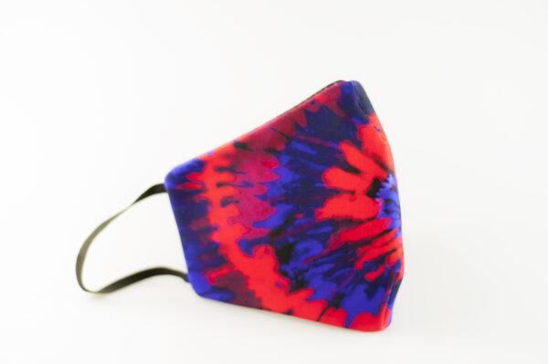 mascarilla picrisoriginal tiedye tie dye rojo azul elastico negro filtro tnt 04