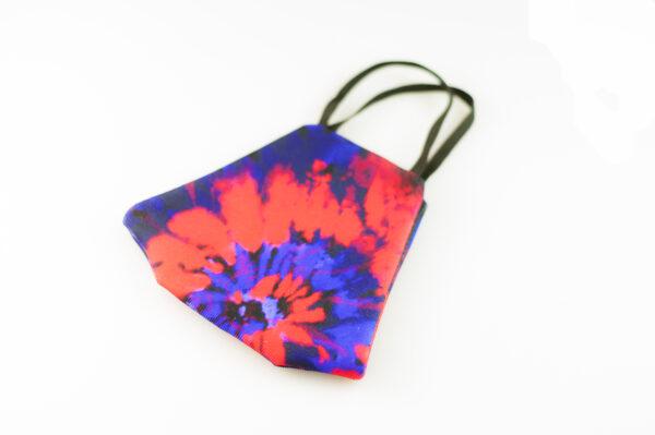 mascarilla picrisoriginal tiedye tie dye rojo azul elastico negro filtro tnt 05