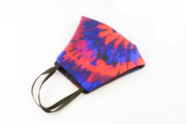 mascarilla picrisoriginal tiedye tie dye rojo azul elastico negro filtro tnt 06