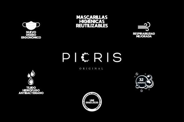 ICONOS Y LOGO PICRIS MASCARILLA HIGIENICA REUTILIZABLE 1200