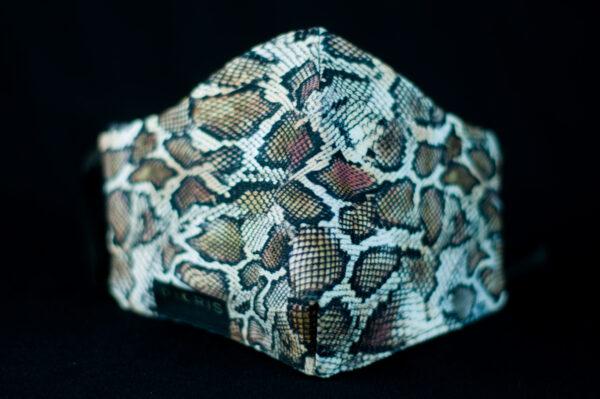 mascarilla higienica animal print gris marron serpiente 02