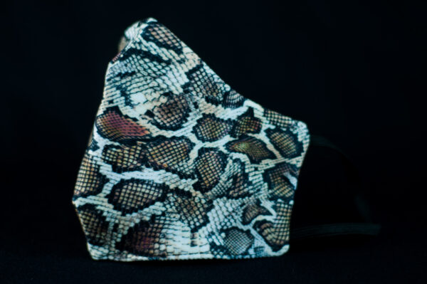 mascarilla higienica animal print gris marron serpiente 04