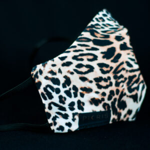 mascarilla higienica animal print marron leopardo 01