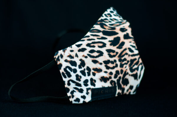 mascarilla higienica animal print marron leopardo 01