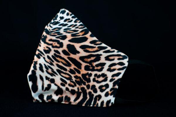mascarilla higienica animal print marron leopardo 03