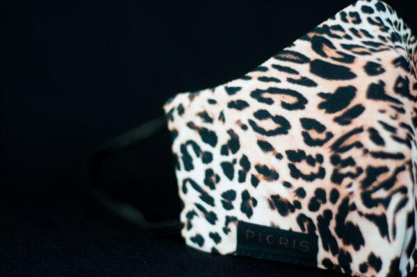 mascarilla higienica animal print marron leopardo 06