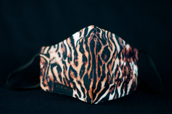 mascarilla higienica animal print marron tigre 02