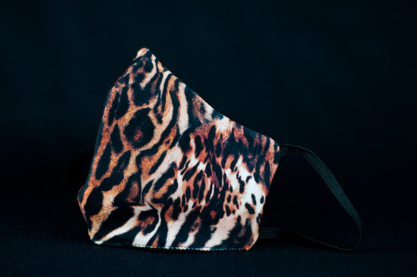 mascarilla higienica animal print marron tigre 03