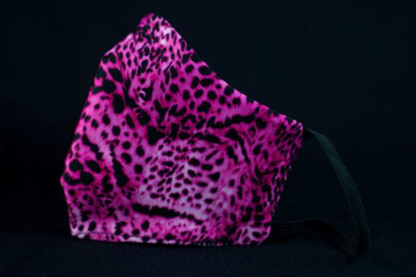 mascarilla higienica animal print rosa leopardo 04