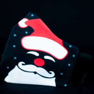 mascarilla higienica navidad copos blancos papanoel rojo 01