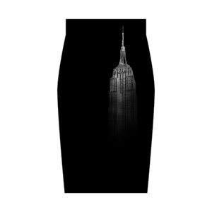 falda midi city nueva york nyc